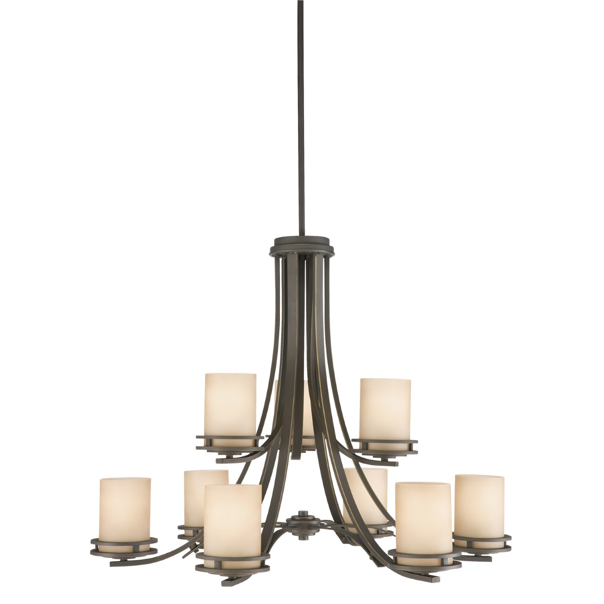 Kichler Hendrik Chandelier with Light Umber Shade - Olde Bronze (1674OZ)