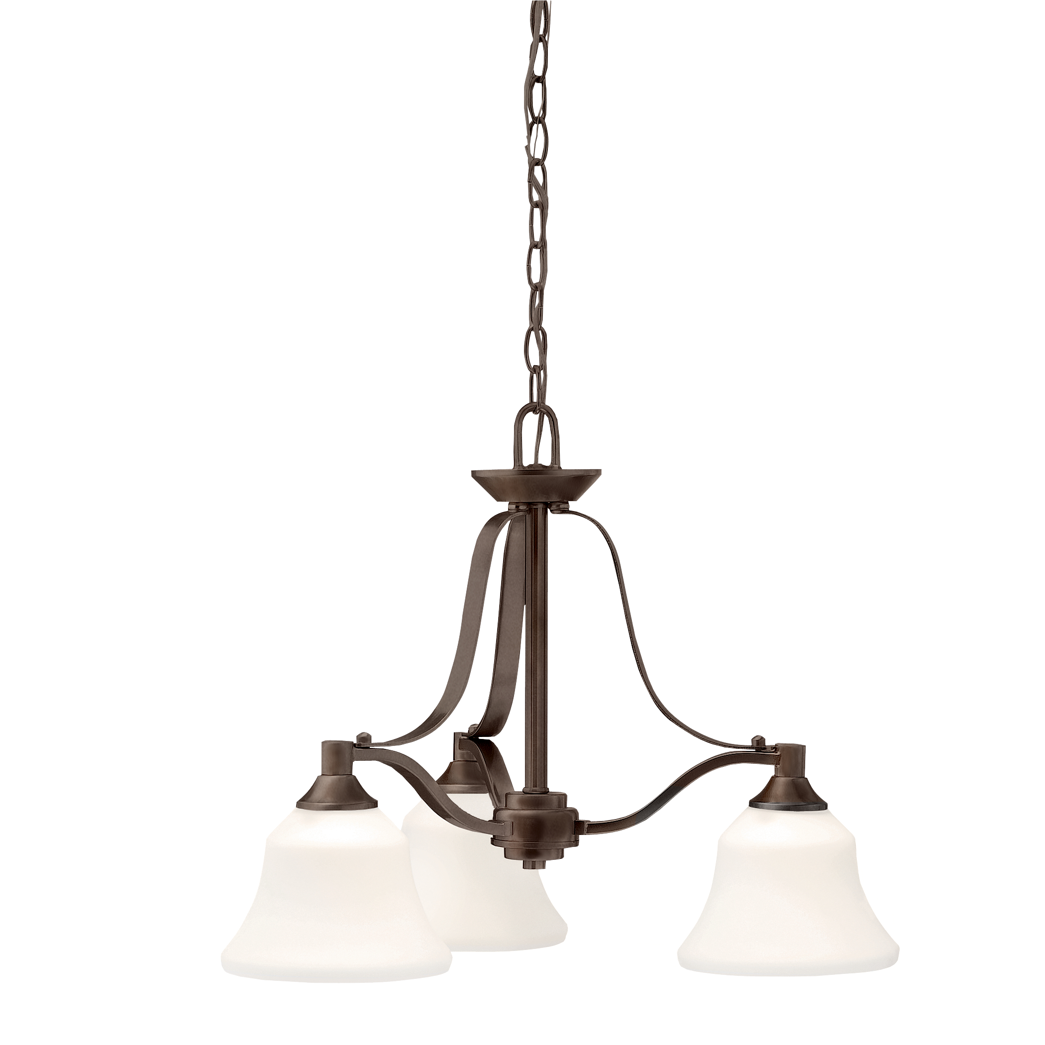 Kichler Langford LED Chandelier with Satin Etched Shade - Olde Bronze (1781OZL16)