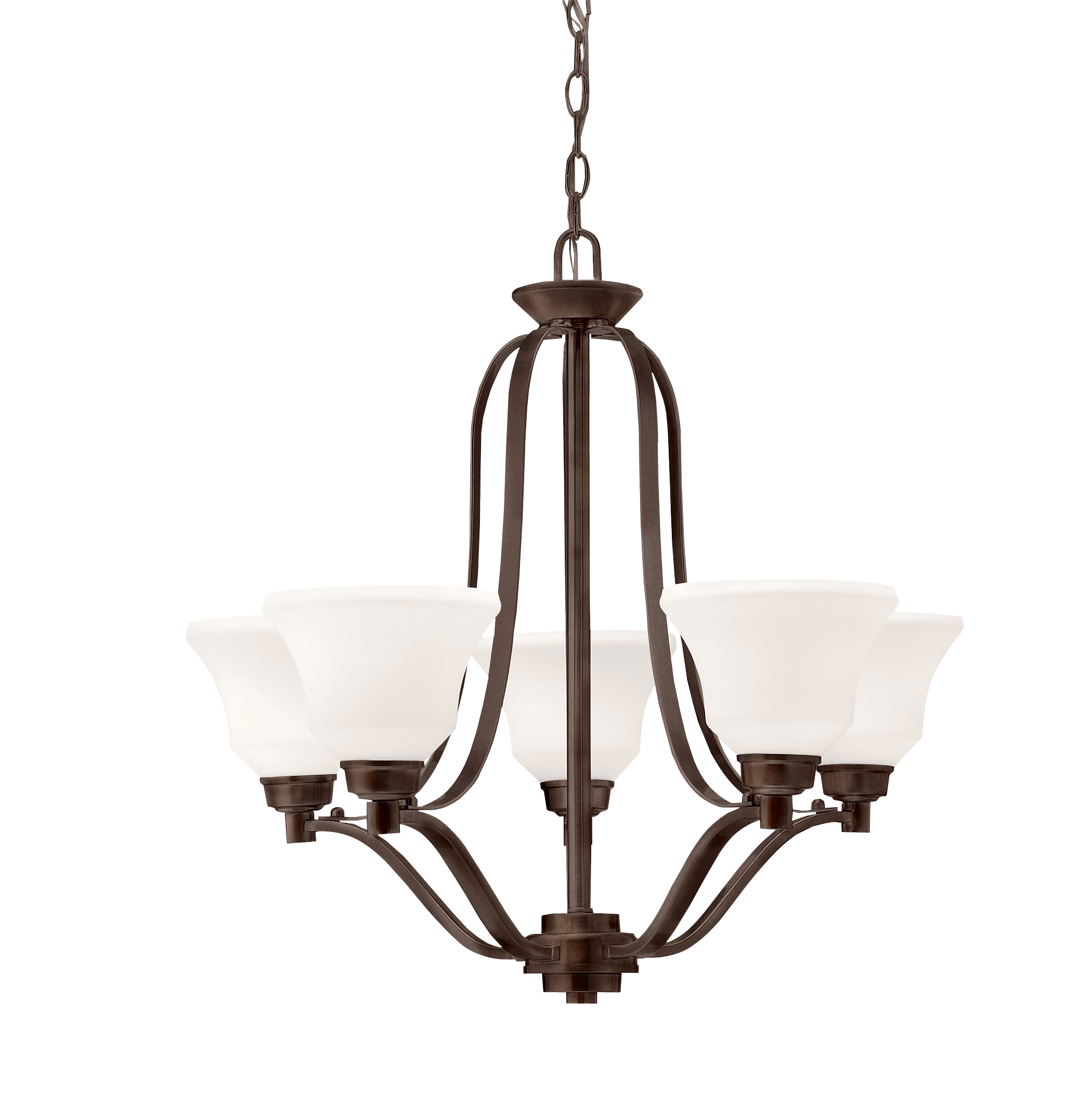 Kichler Langford LED Chandelier with White Etched White Shade - Olde Bronze (1783OZL16)