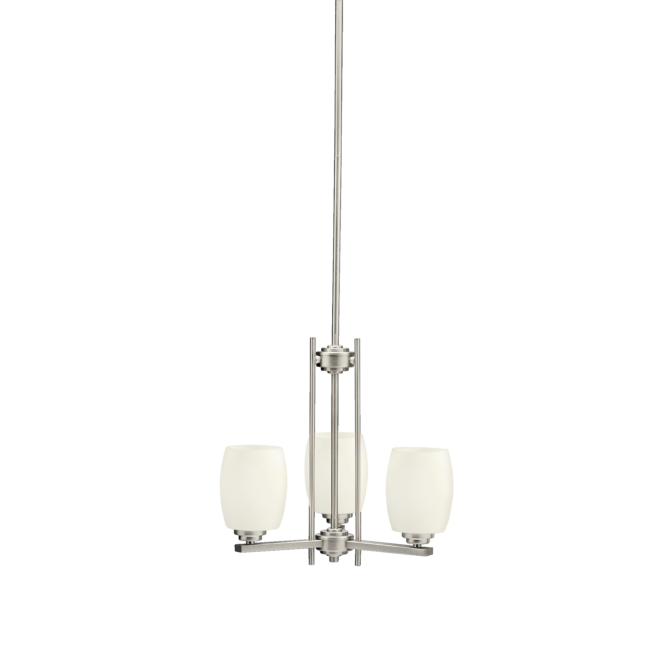Kichler Eileen LED Chandelier with Satin Etched Cased Opal Shade - Brushed Nickel (1894NIL16)
