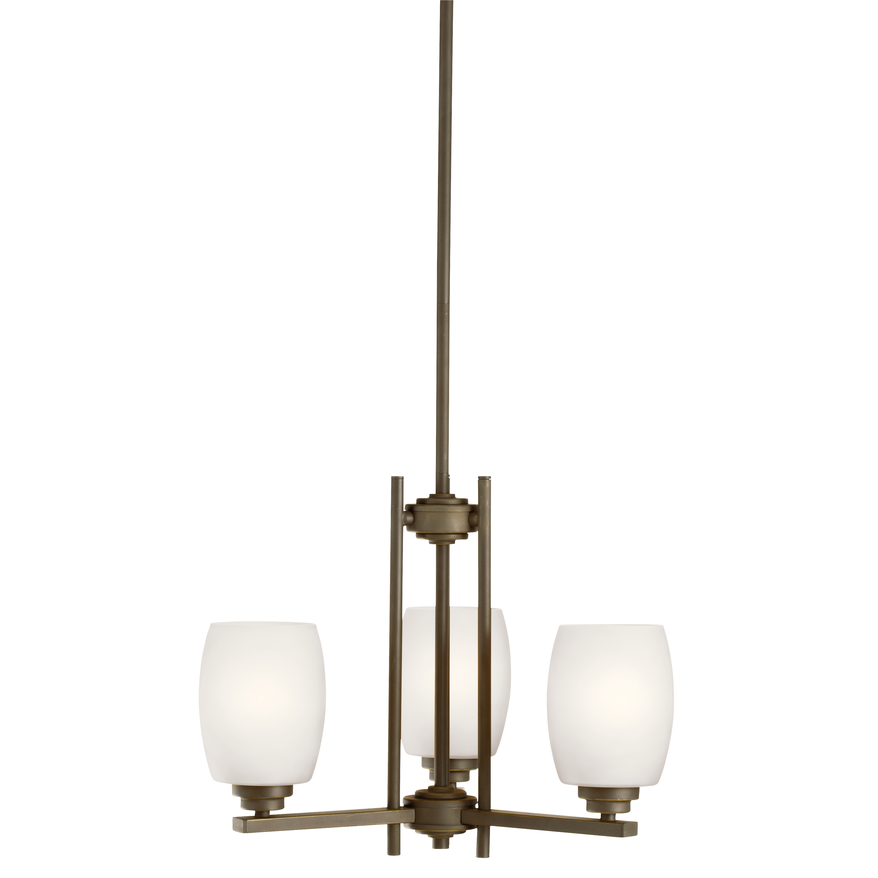 Kichler Eileen LED Chandelier with Satin Etched Cased Opal Shade - Olde Bronze (1894OZSL16)