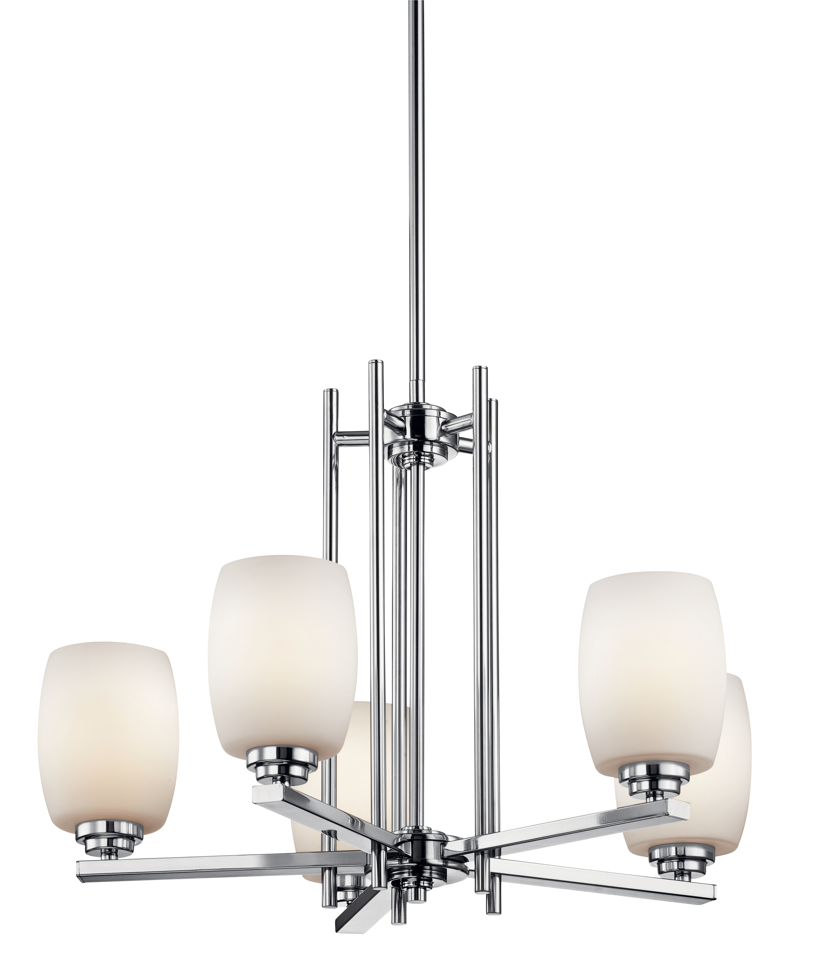 Kichler Eileen LED Chandelier with Satin Etched Cased Opal Shade - Chrome (1896CHL16)