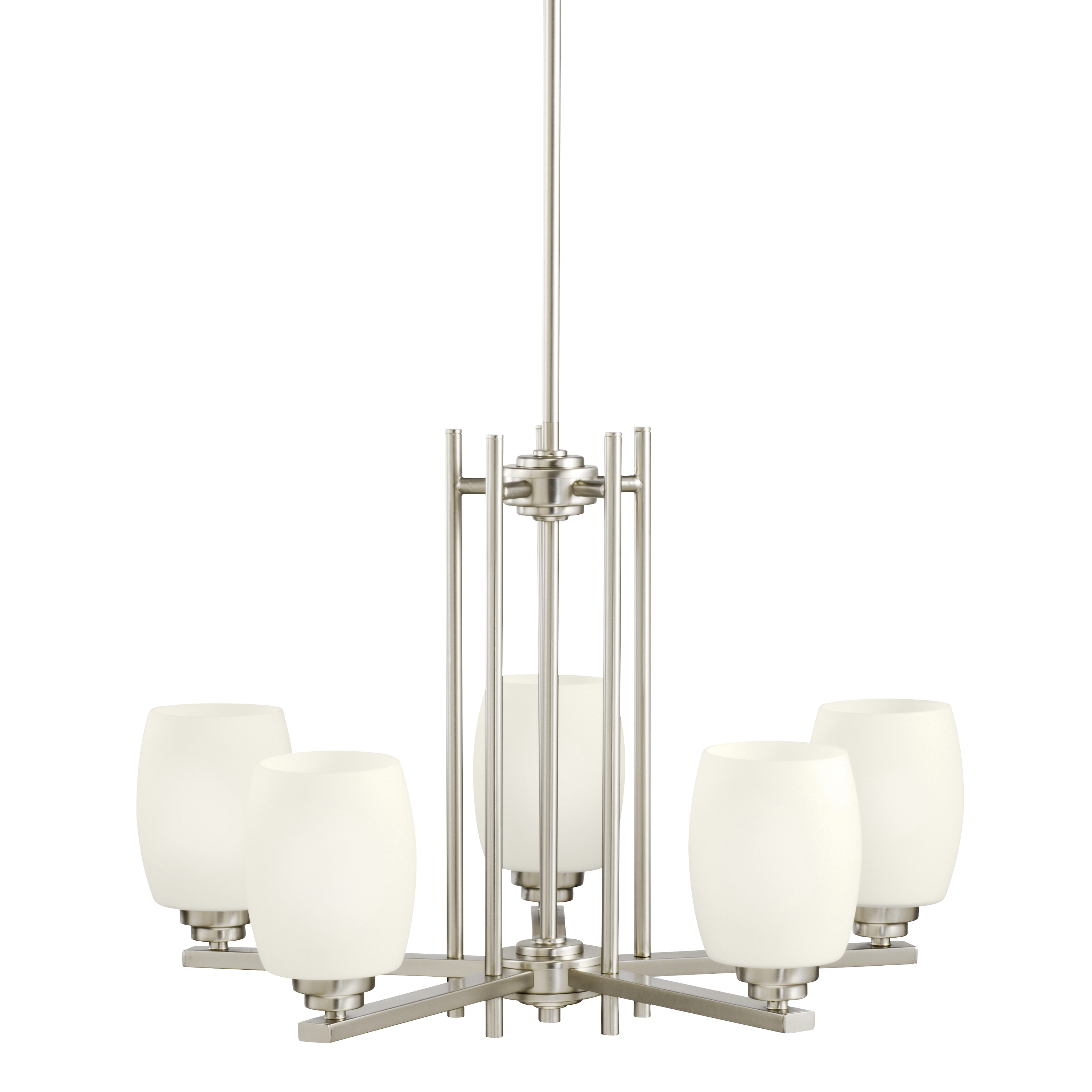 Kichler Eileen LED Chandelier with Satin Etched Cased Opal Shade - Brushed Nickel (1896NIL16)
