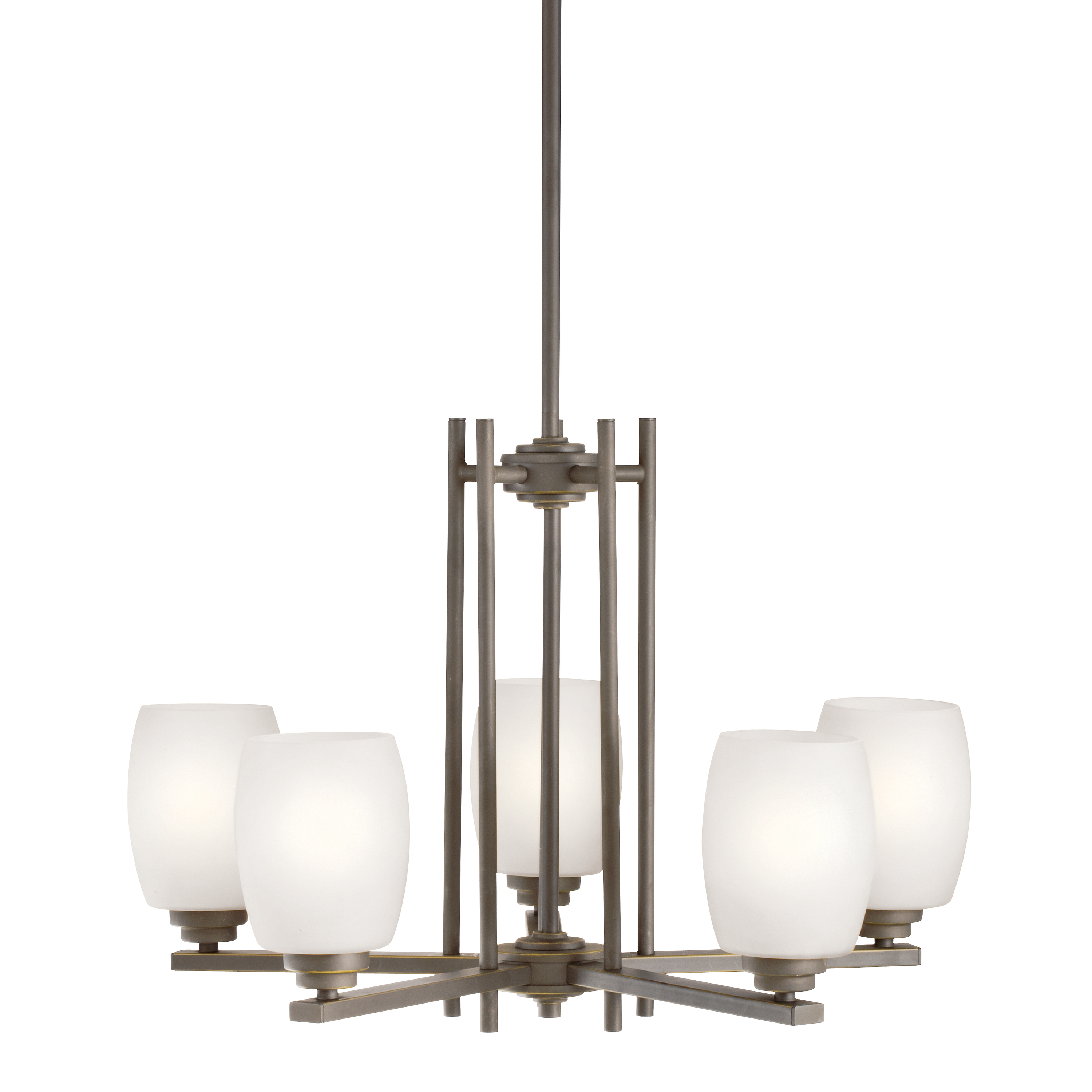 Kichler Eileen LED Chandelier with Satin Etched Cased Opal Shade - Olde Bronze (1896OZSL16)