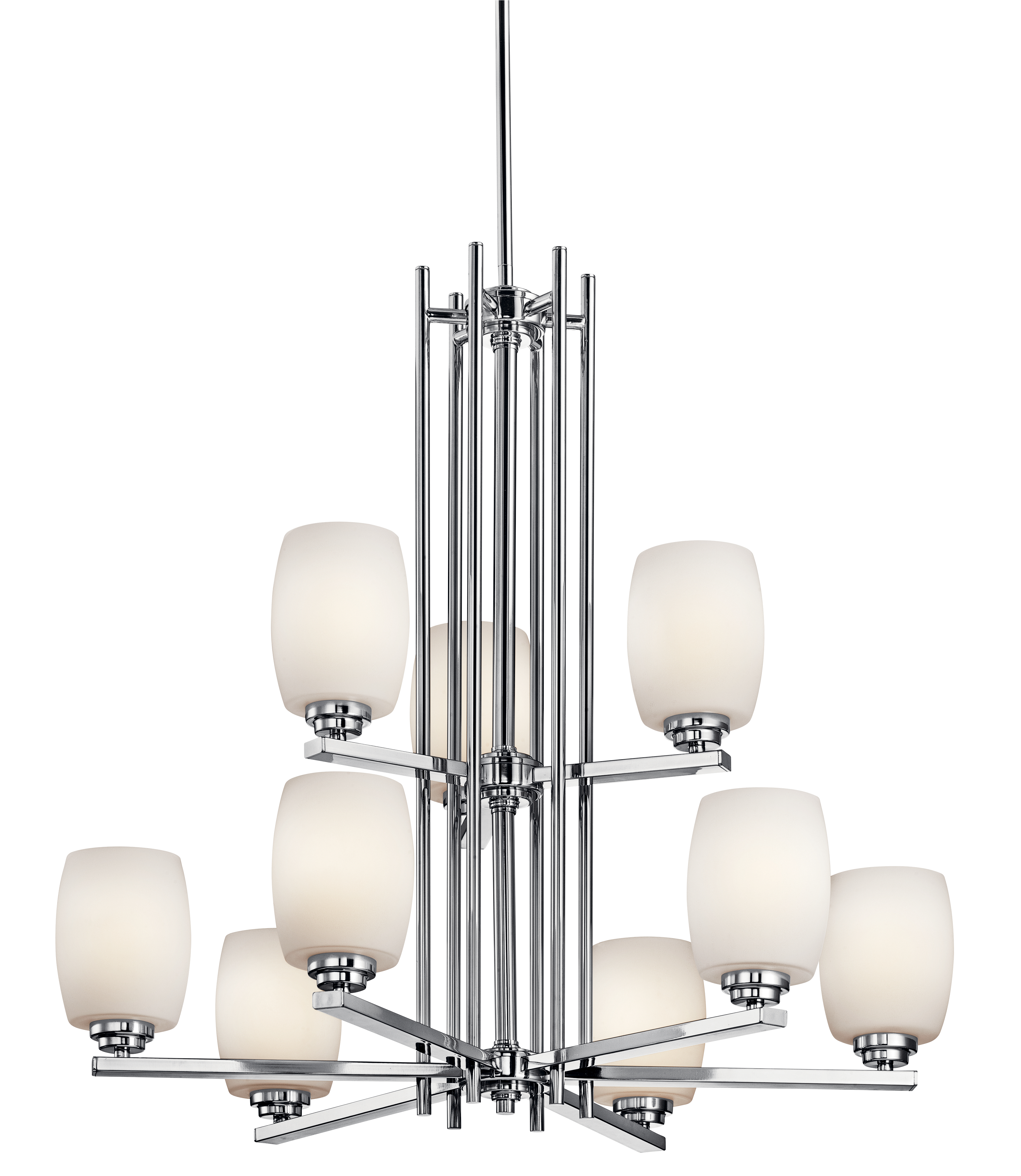 Kichler Eileen LED Chandelier with Satin Etched Cased Opal Shade - Chrome (1897CHL16)