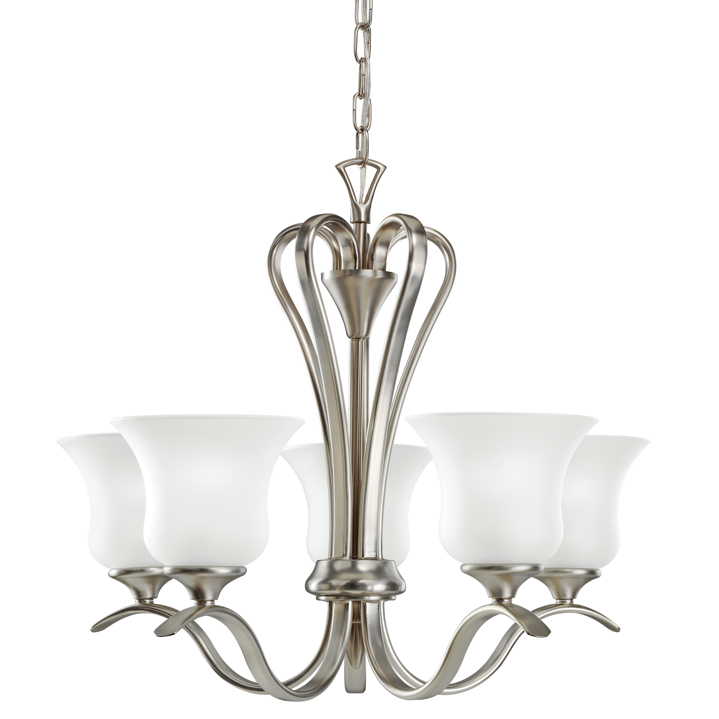 Kichler Wedgeport LED Chandelier with Satin Etched Shade - Brushed Nickel (2085NIL16)