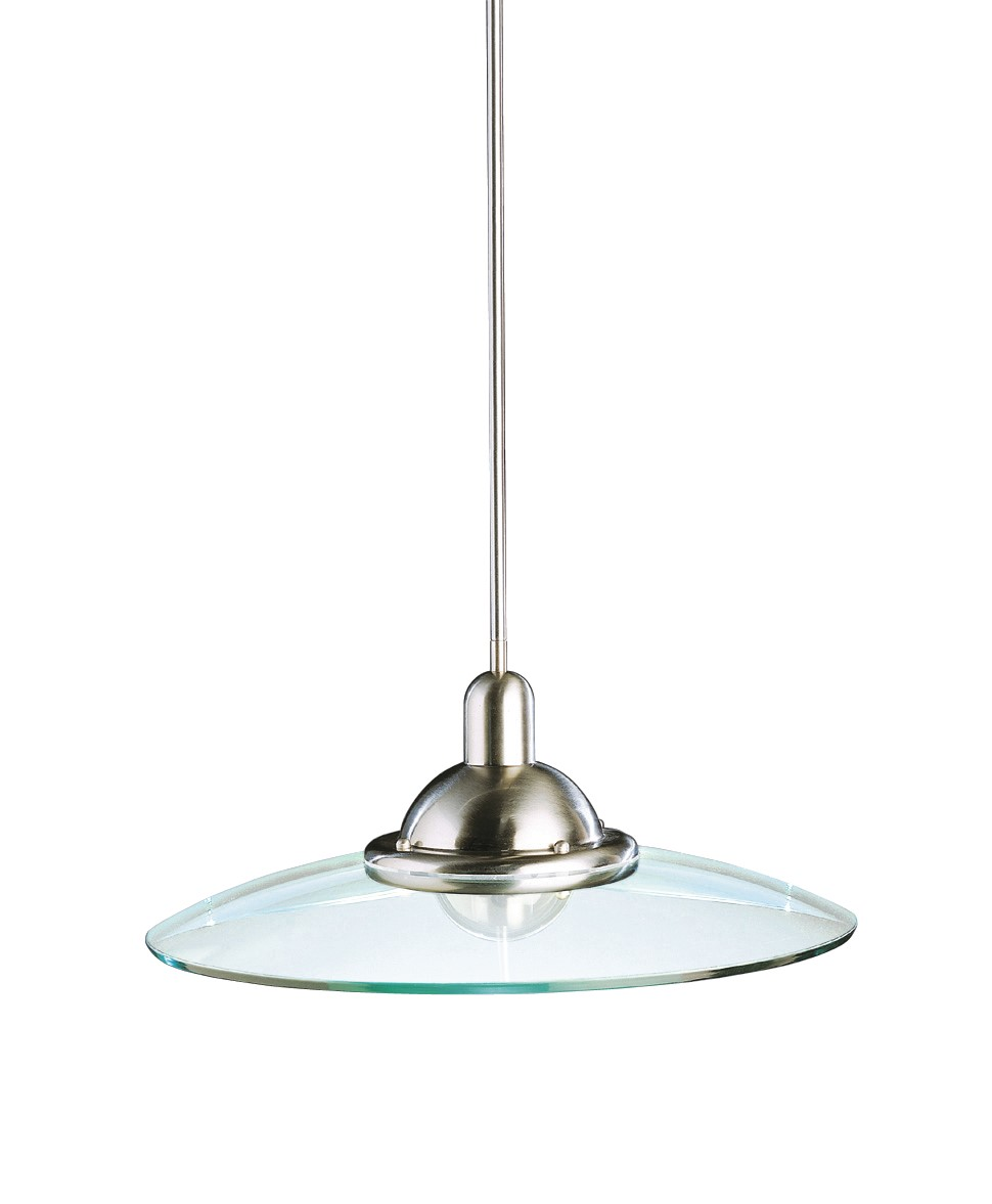 Kichler Galaxie Galaxie Pendant Light with Clear Steel Shade - Brushed Nickel (2640NI)