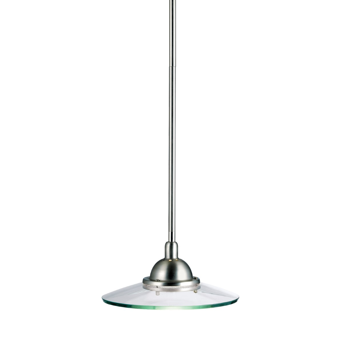 Kichler Galaxie Galaxie Pendant Light with Clear Steel Shade - Brushed Nickel (2641NI)
