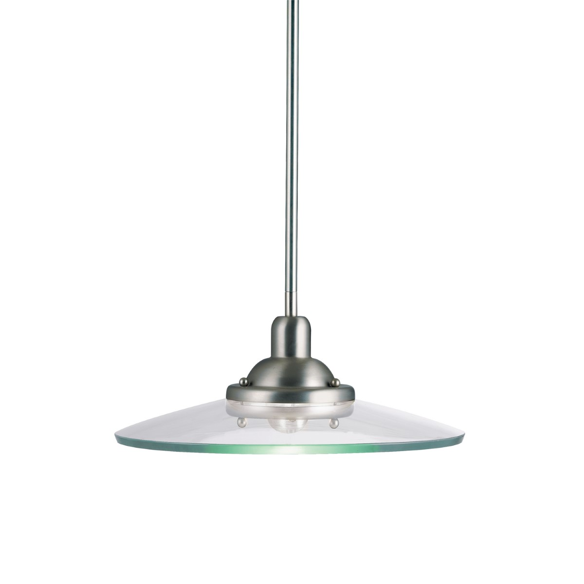 Kichler Galaxie Galaxie Pendant Light with Clear Steel Shade - Brushed Nickel (2643NI)