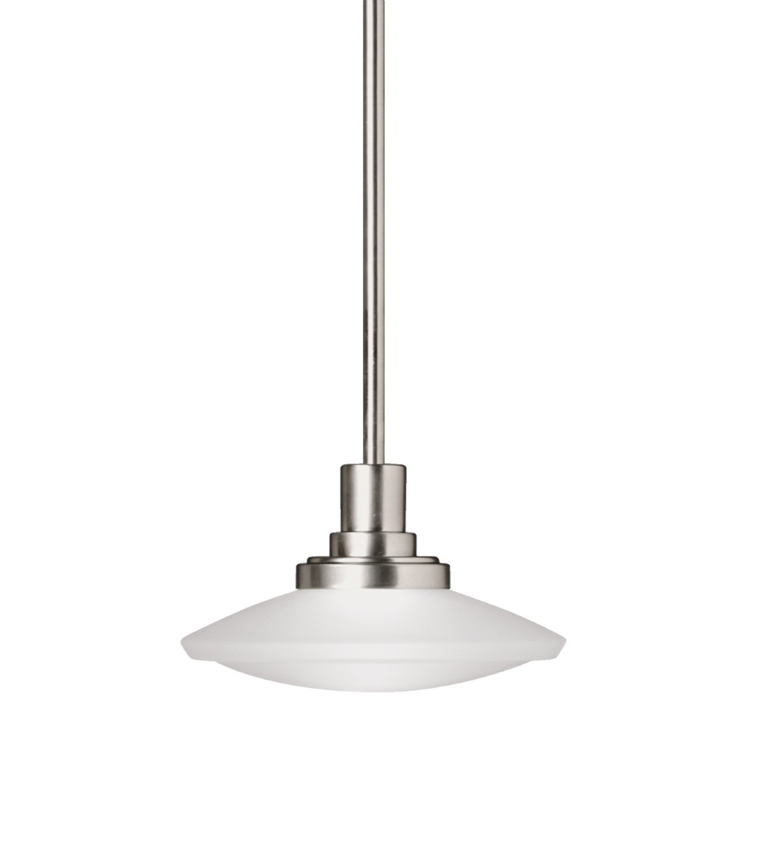 Kichler Structures Structures Pendant Light with Satin Etched Steel Shade - Brushed Nickel (2655NI)