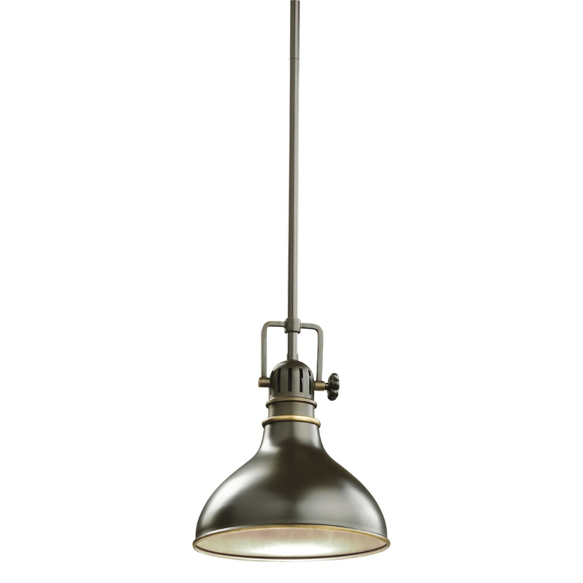 Kichler Hatteras Bay Hatteras Bay Pendant Light with Silver / Gray Steel Shade - Olde Bronze (2664OZ)