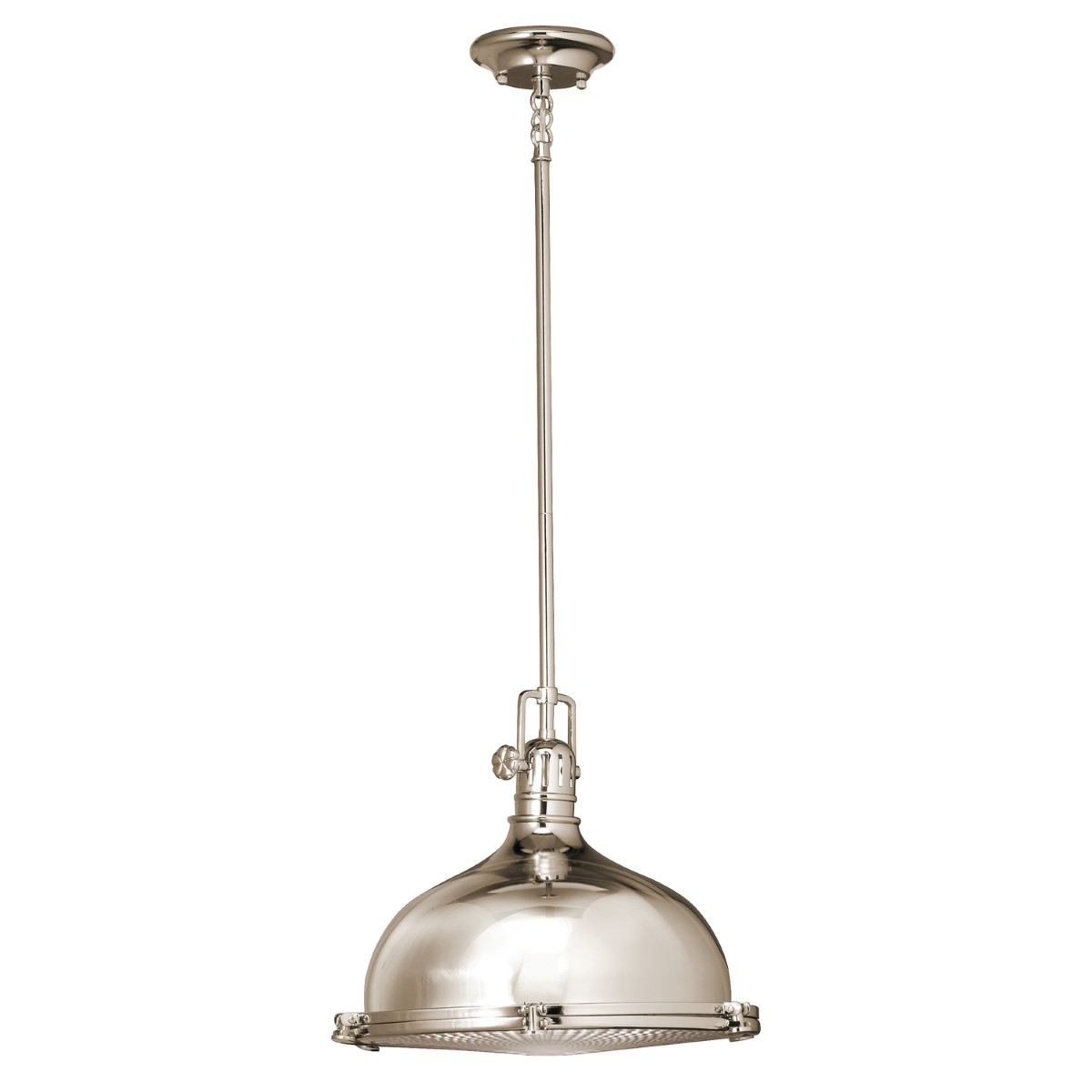 Kichler Hatteras Bay Hatteras Bay Pendant Light with Fresnel Lens Fresnel Lens Steel Shade - Polished Nickel (2666PN)