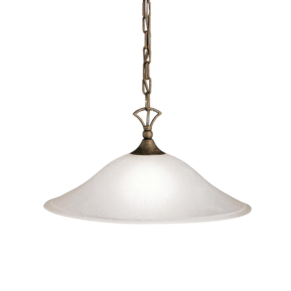 Kichler Hastings Pendant Light with Etched Seeded Glass Shade - Tannery Bronze (2702TZ)