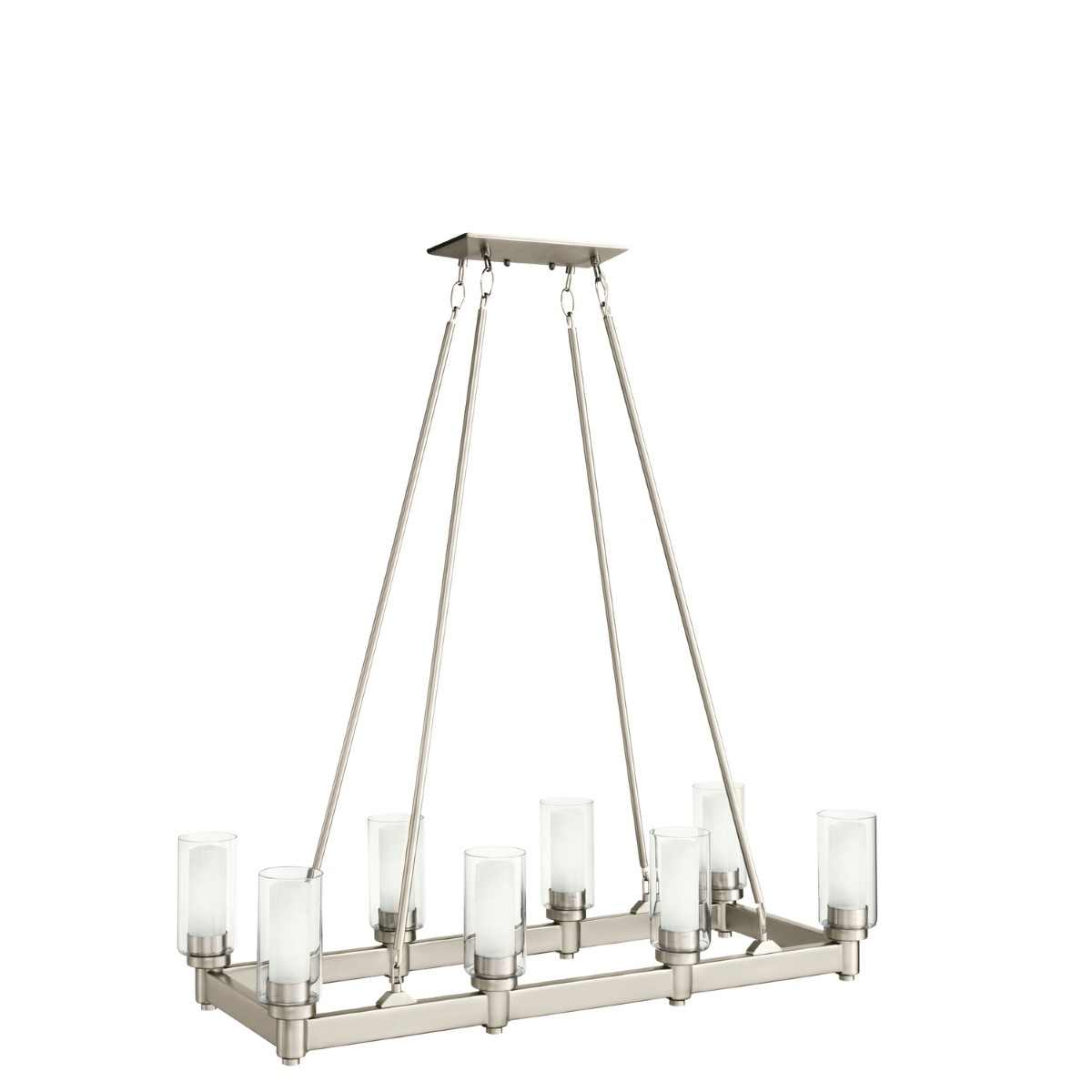 Kichler Circolo Circolo Chandelier with Clear / Satin Etched Steel Shade - Brushed Nickel (2943NI)