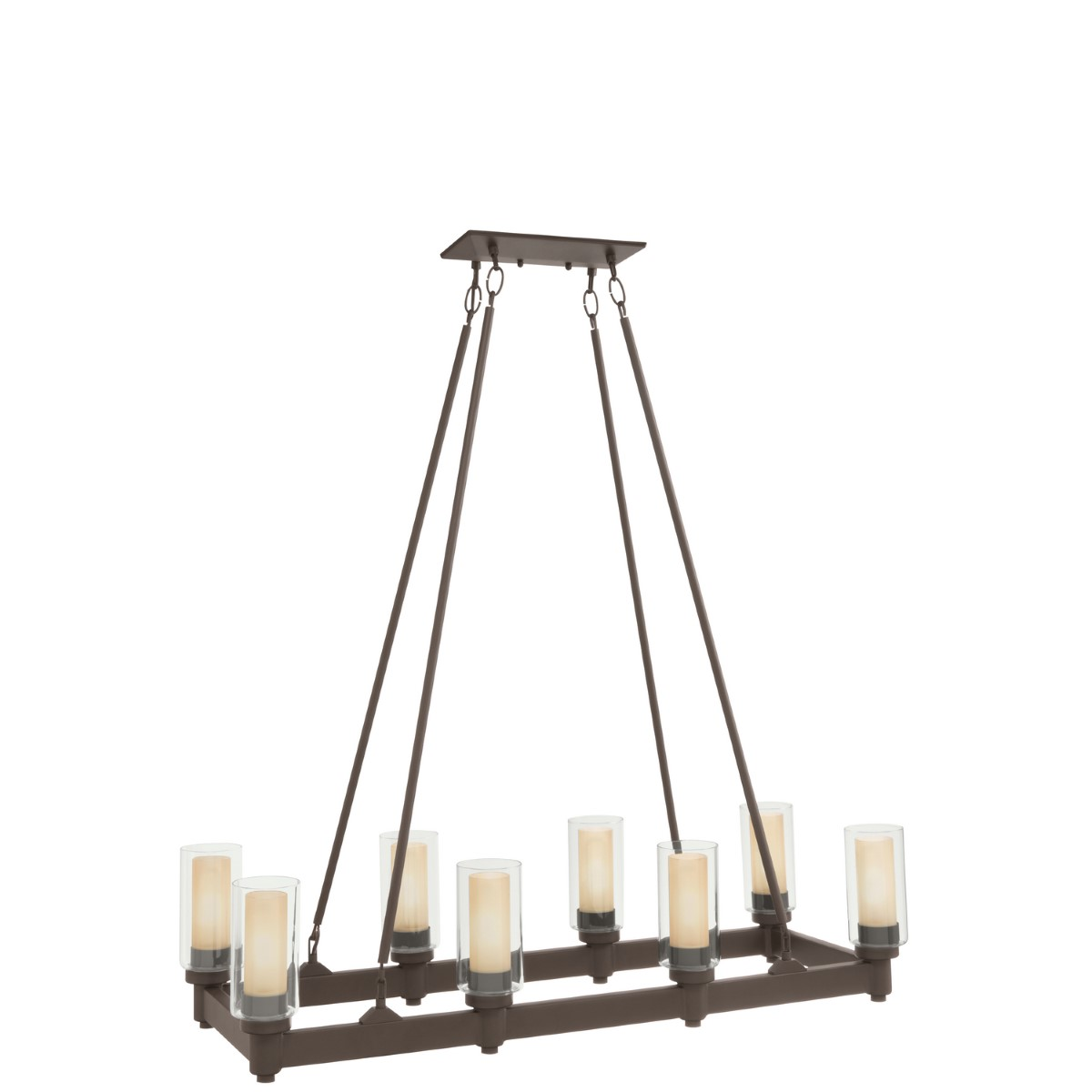 Kichler Circolo Circolo Chandelier with Cylinder Clear / Umber Etched Steel Shade - Olde Bronze (2943OZ)