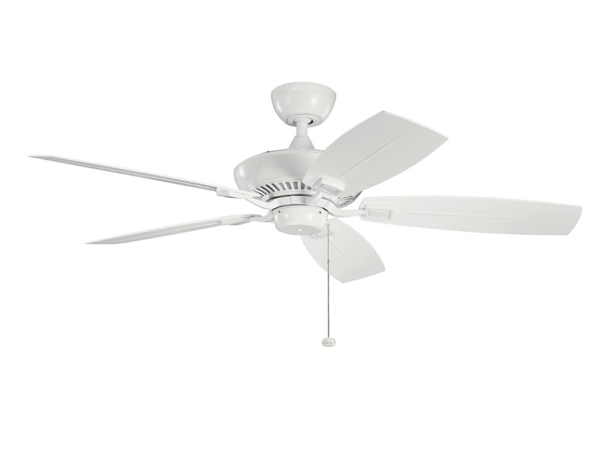 Kichler Canfield Patio White Ceiling Fan
