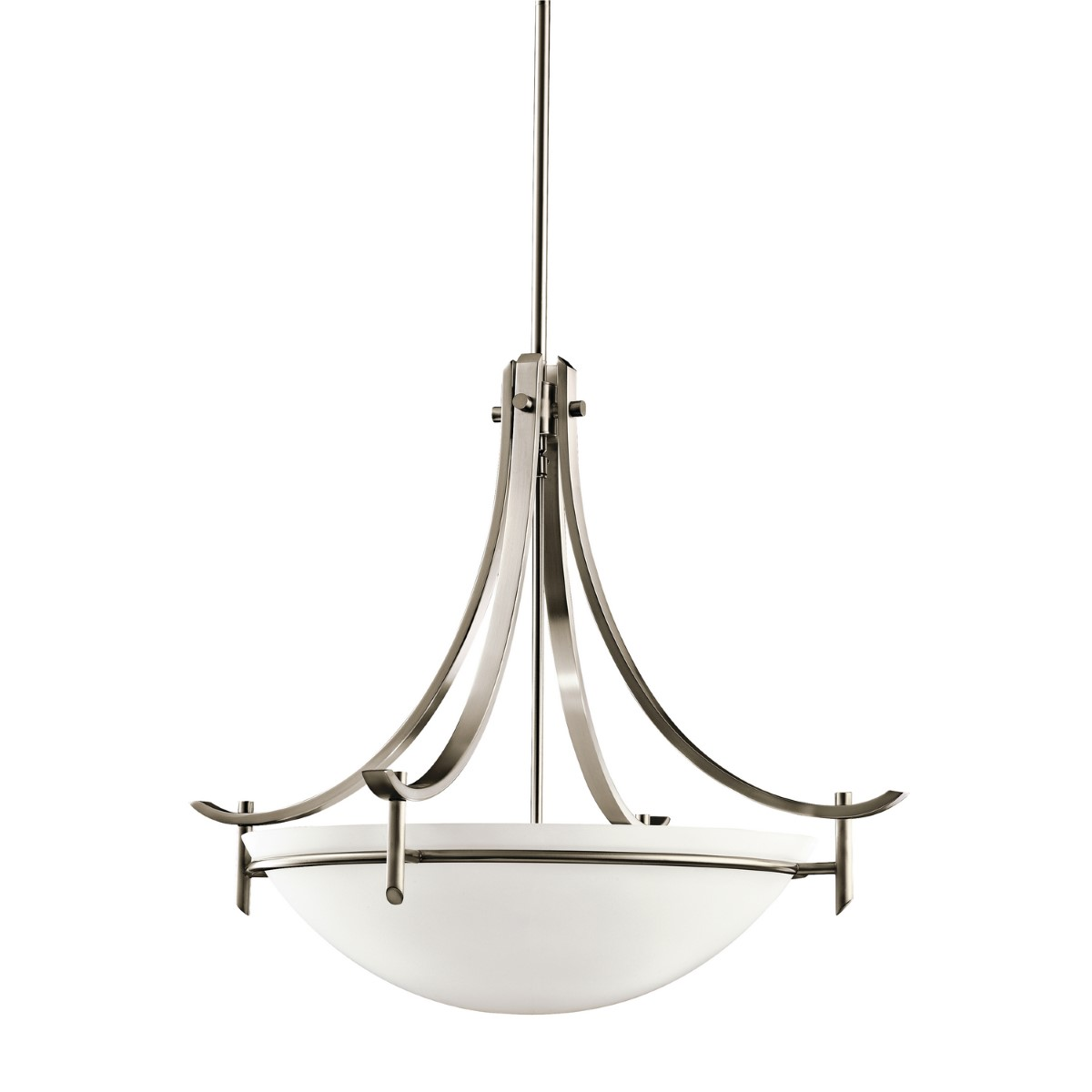 Kichler Olympia Olympia Pendant Light with Satin Etched White Steel Shade - Antique Pewter (3278AP)