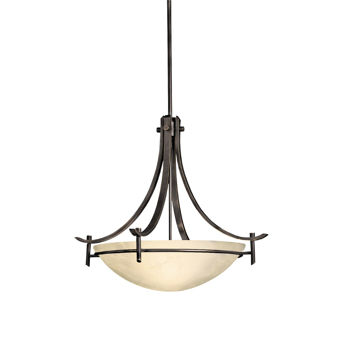 Kichler Olympia Olympia Pendant Light with Sunset Marble Marble Shade - Olde Bronze (3278OZ)
