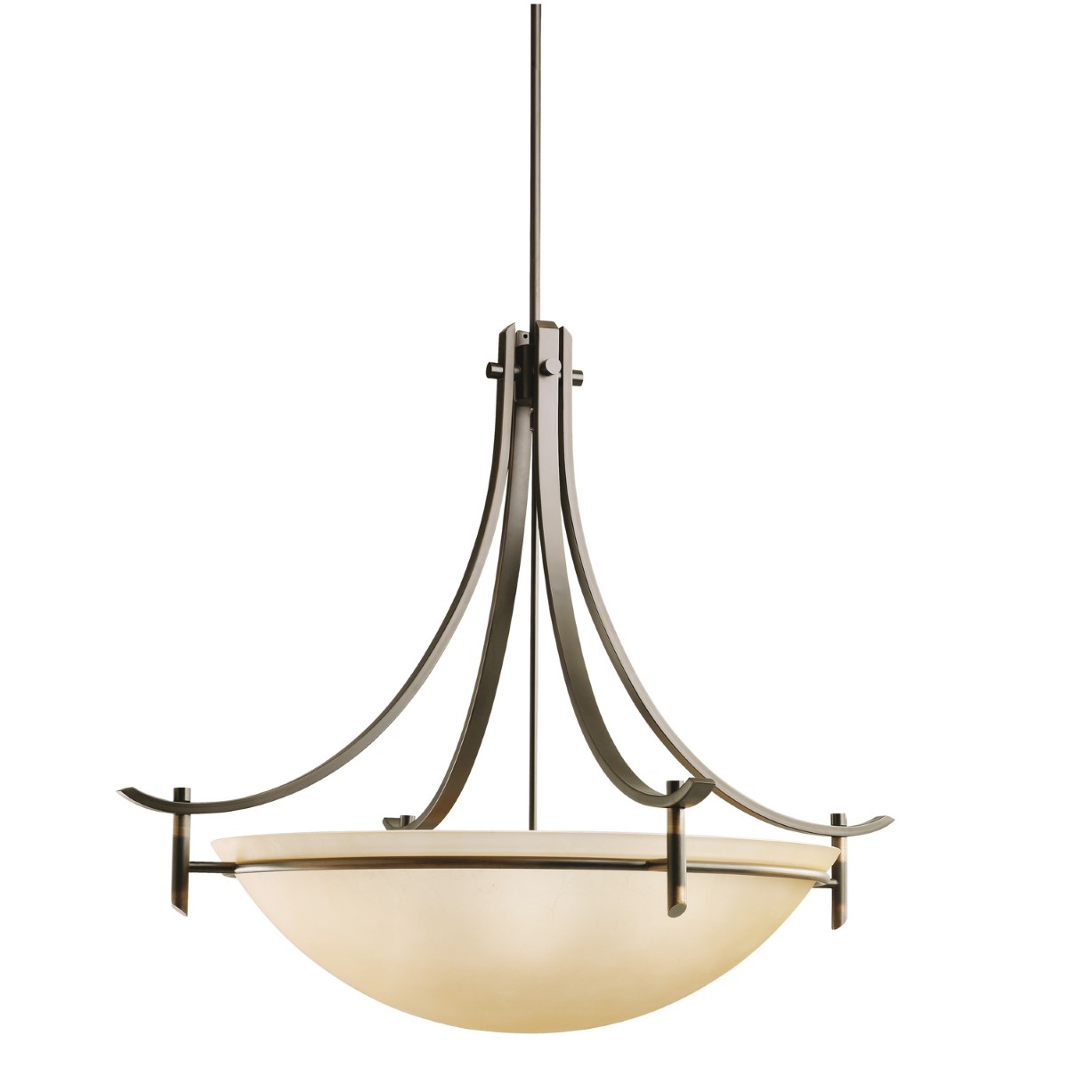 Kichler Olympia Olympia Pendant Light with Sunset Marble Marble Shade - Olde Bronze (3279OZ)