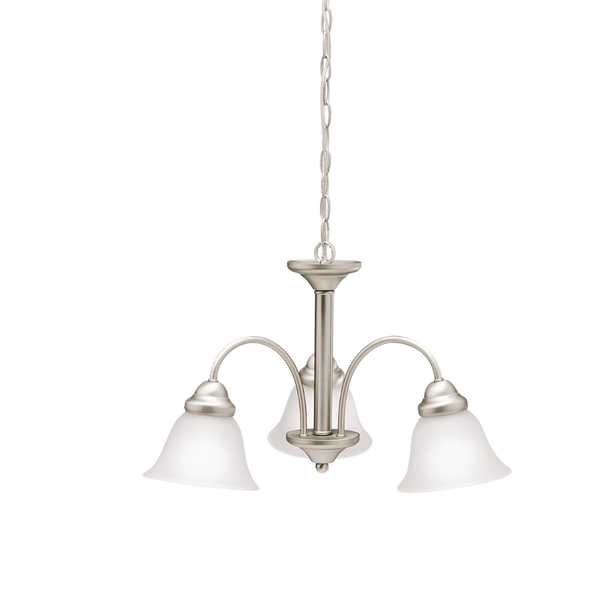 Kichler Wynberg Wynberg Chandelier with Satin Etched Steel Shade - Brushed Nickel (3293NI)