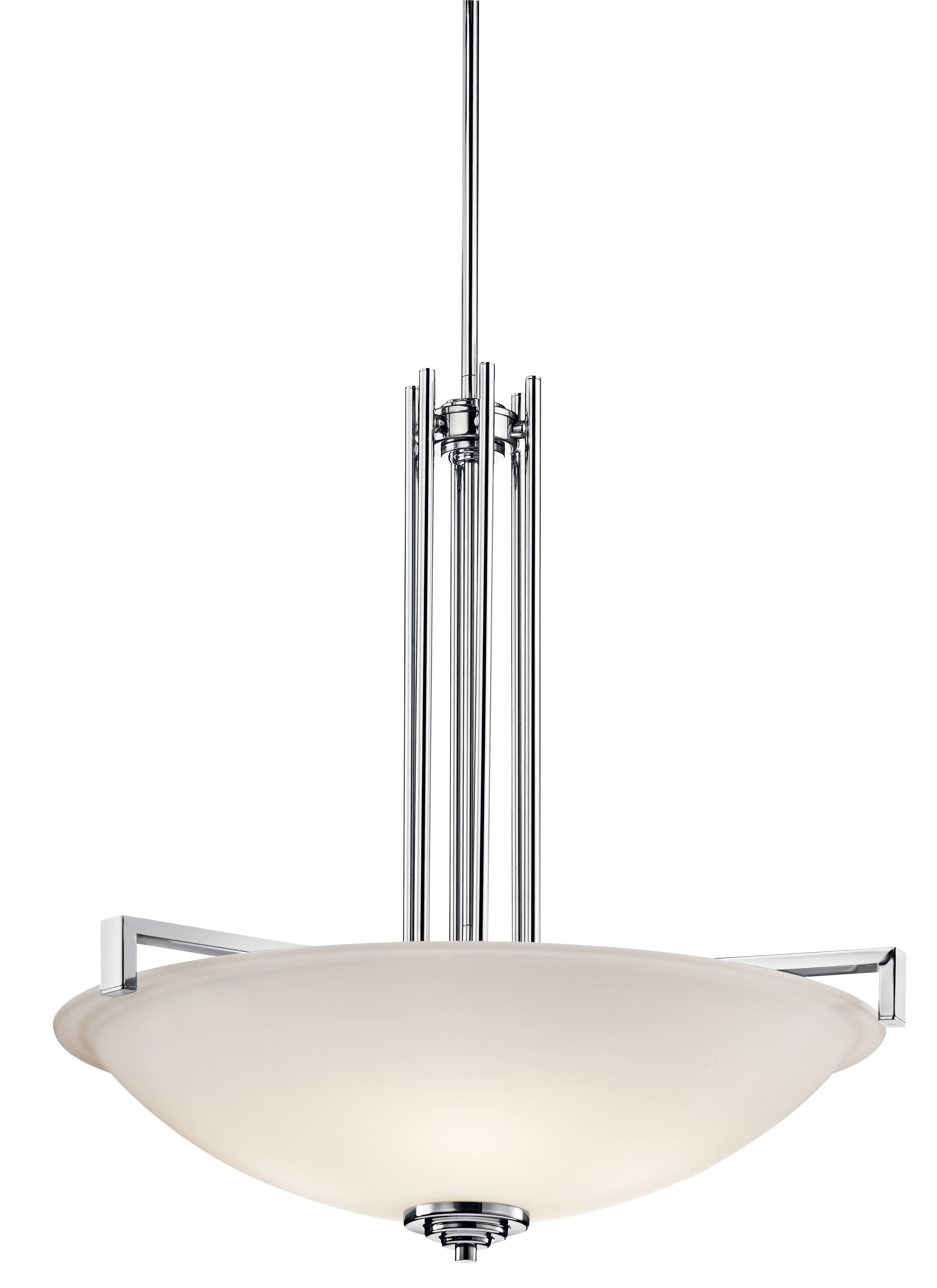 Kichler Eileen Pendant Light with Satin Etched White Shade - Chrome (3299CH)
