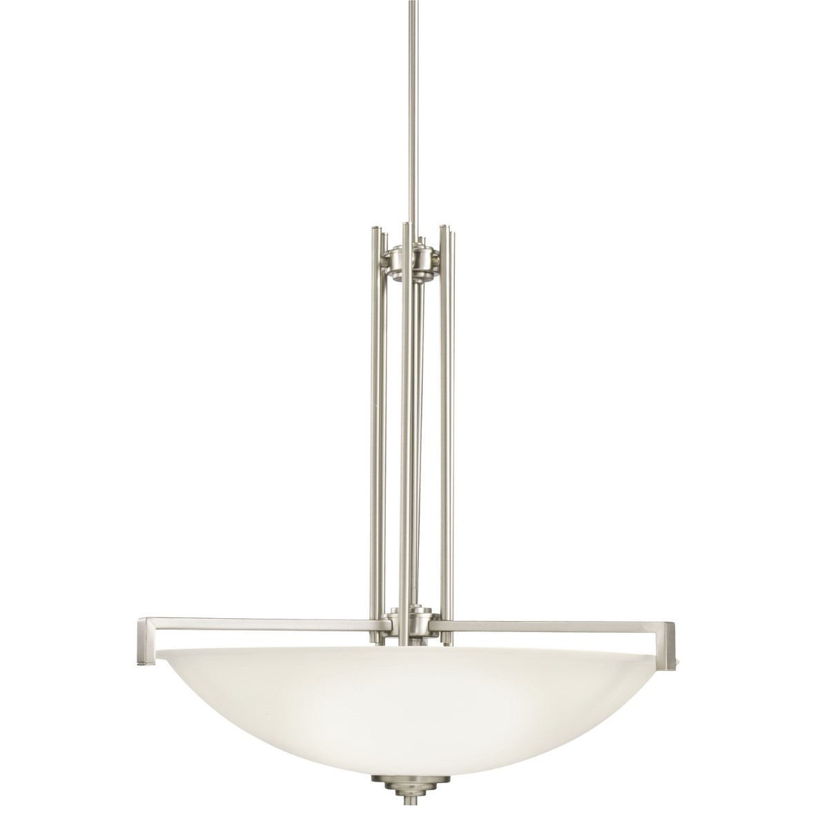 Kichler Eileen Eileen Pendant Light with Satin Etched White Steel Shade - Brushed Nickel (3299NI)