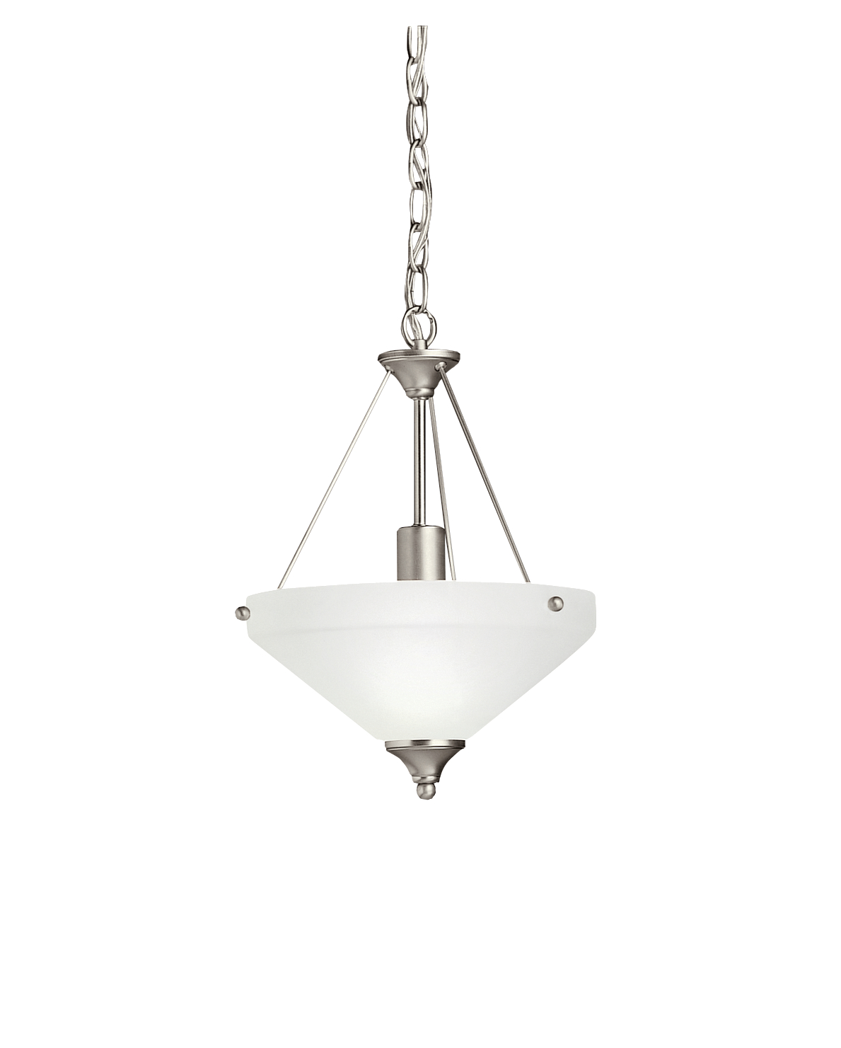 Kichler Ansonia Pendant Light with Satin Etched Shade - Brushed Nickel (3348NI)