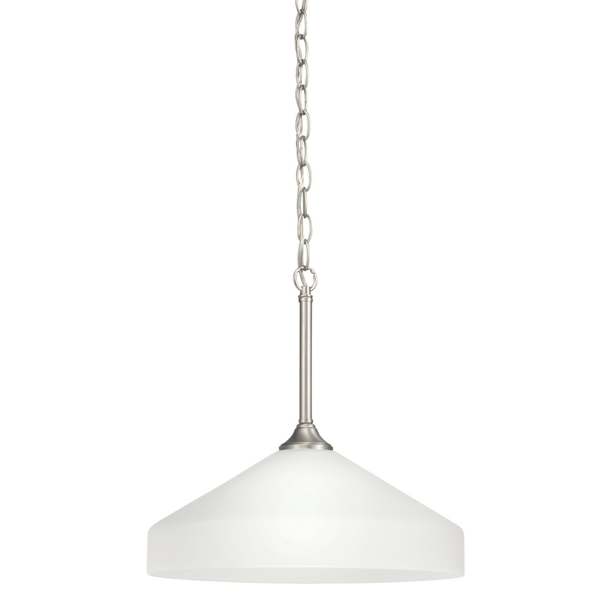 Kichler Ansonia Ansonia Pendant Light with Satin Etched Glass - Brushed Nickel (3349NI)