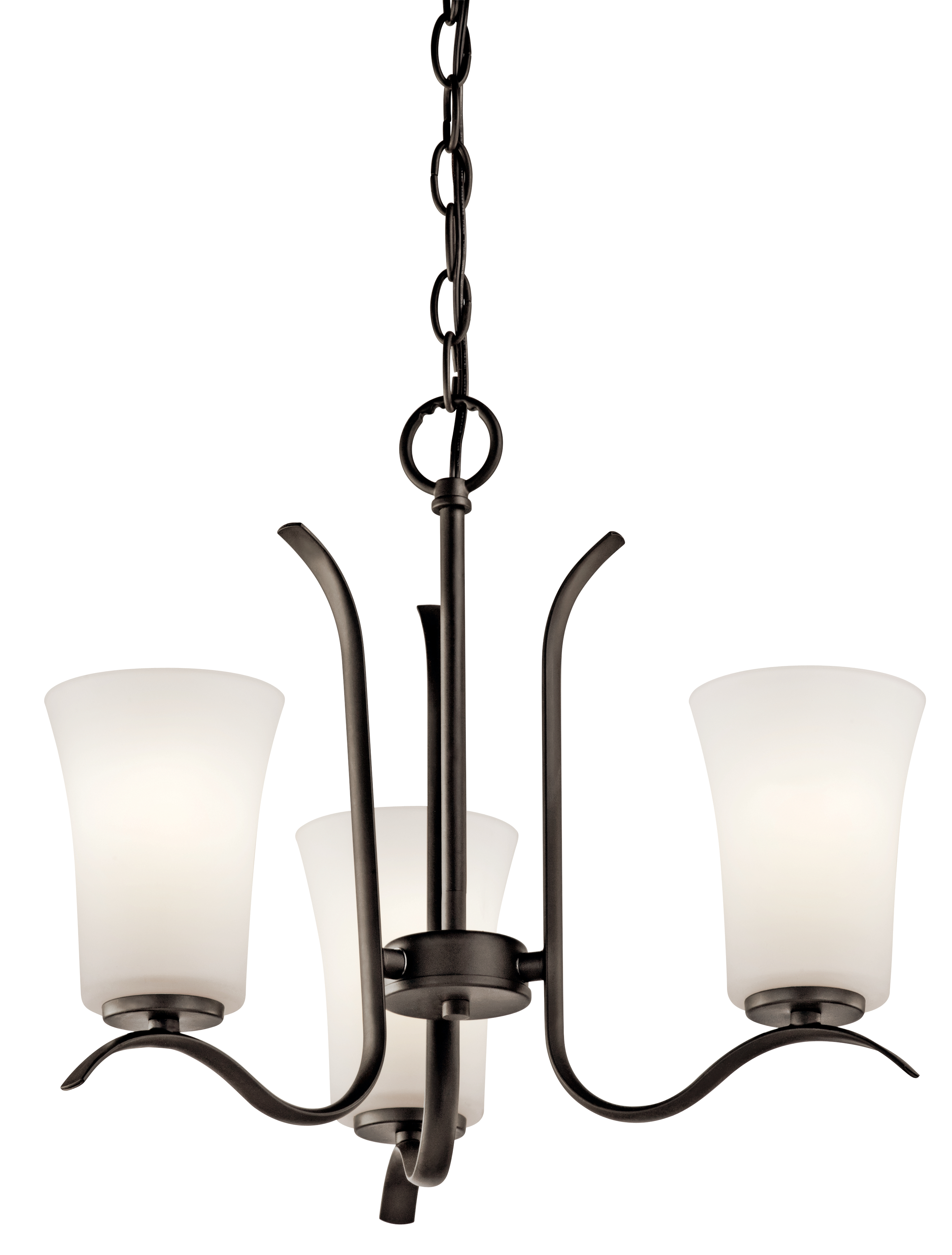 Kichler Armida LED Chandelier with Satin Etched White Shade - Olde Bronze (43073OZL16)
