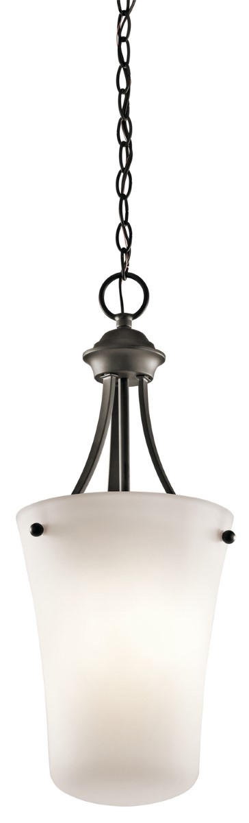 Kichler Keiran Pendant Light with Satin Etched White Shade - Olde Bronze (43509OZ)
