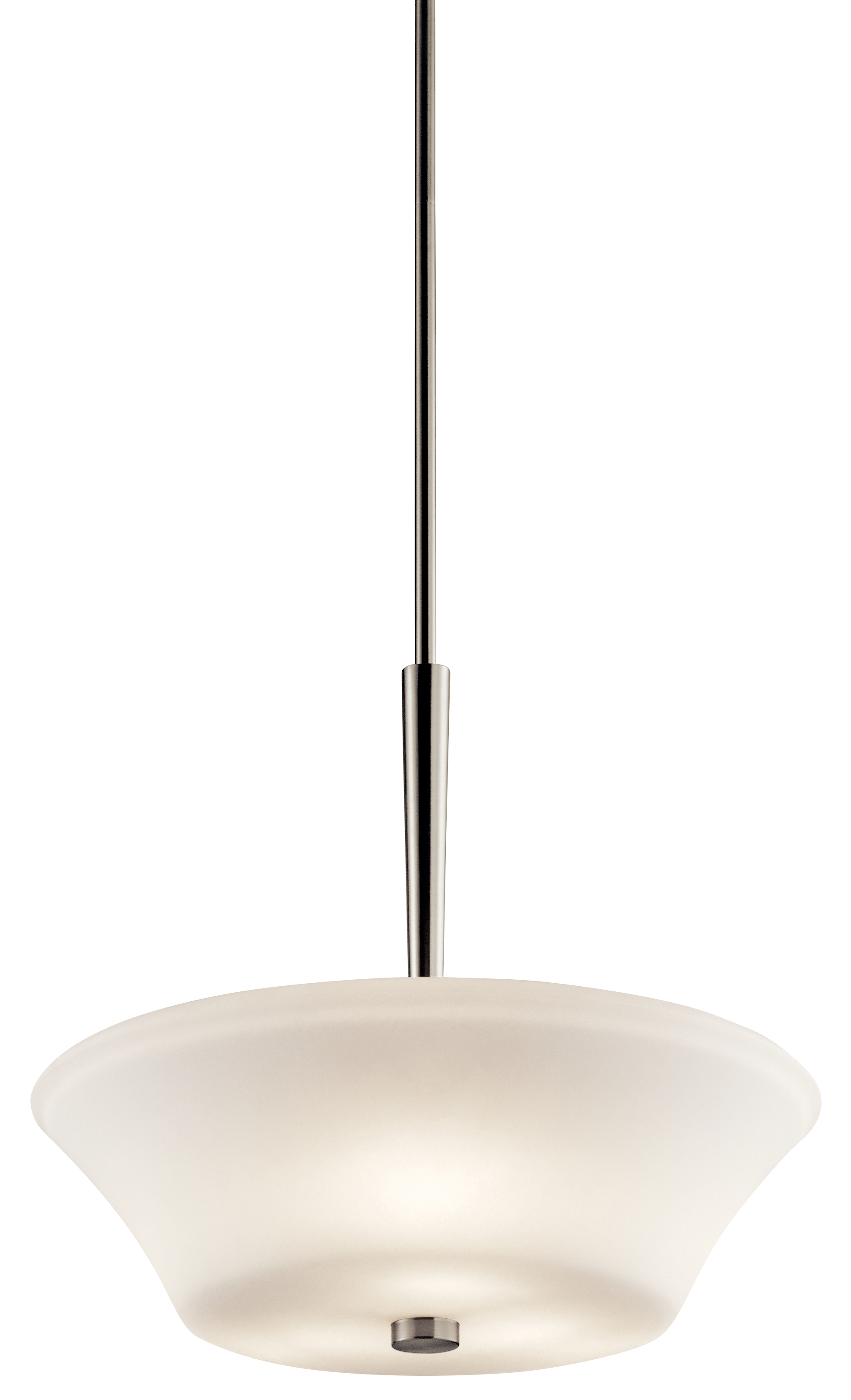 Kichler Aubrey Pendant Light with Satin Etched White Shade - Brushed Nickel (43667NI)