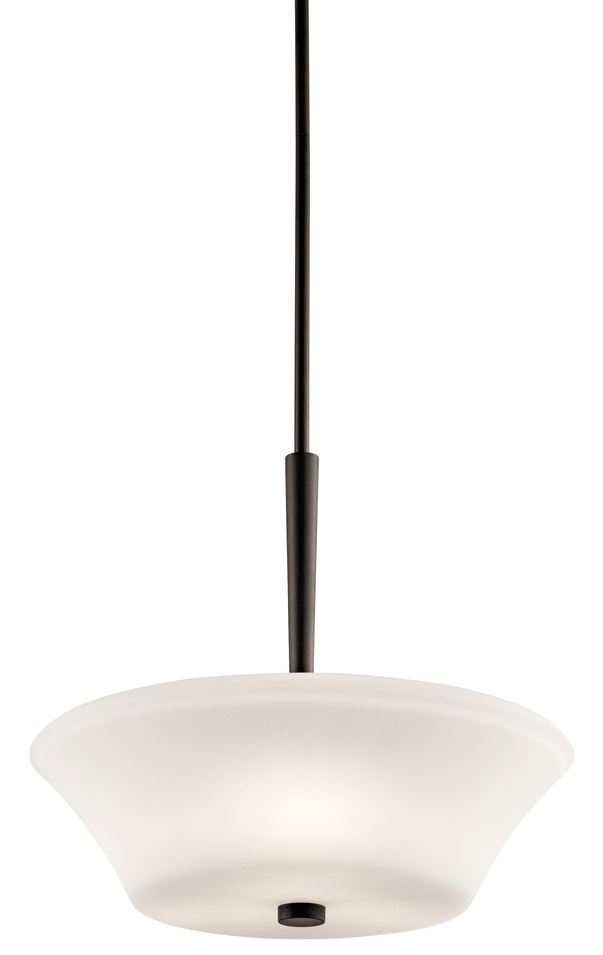 Kichler Aubrey Pendant Light with Satin Etched White Shade - Olde Bronze (43667OZ)