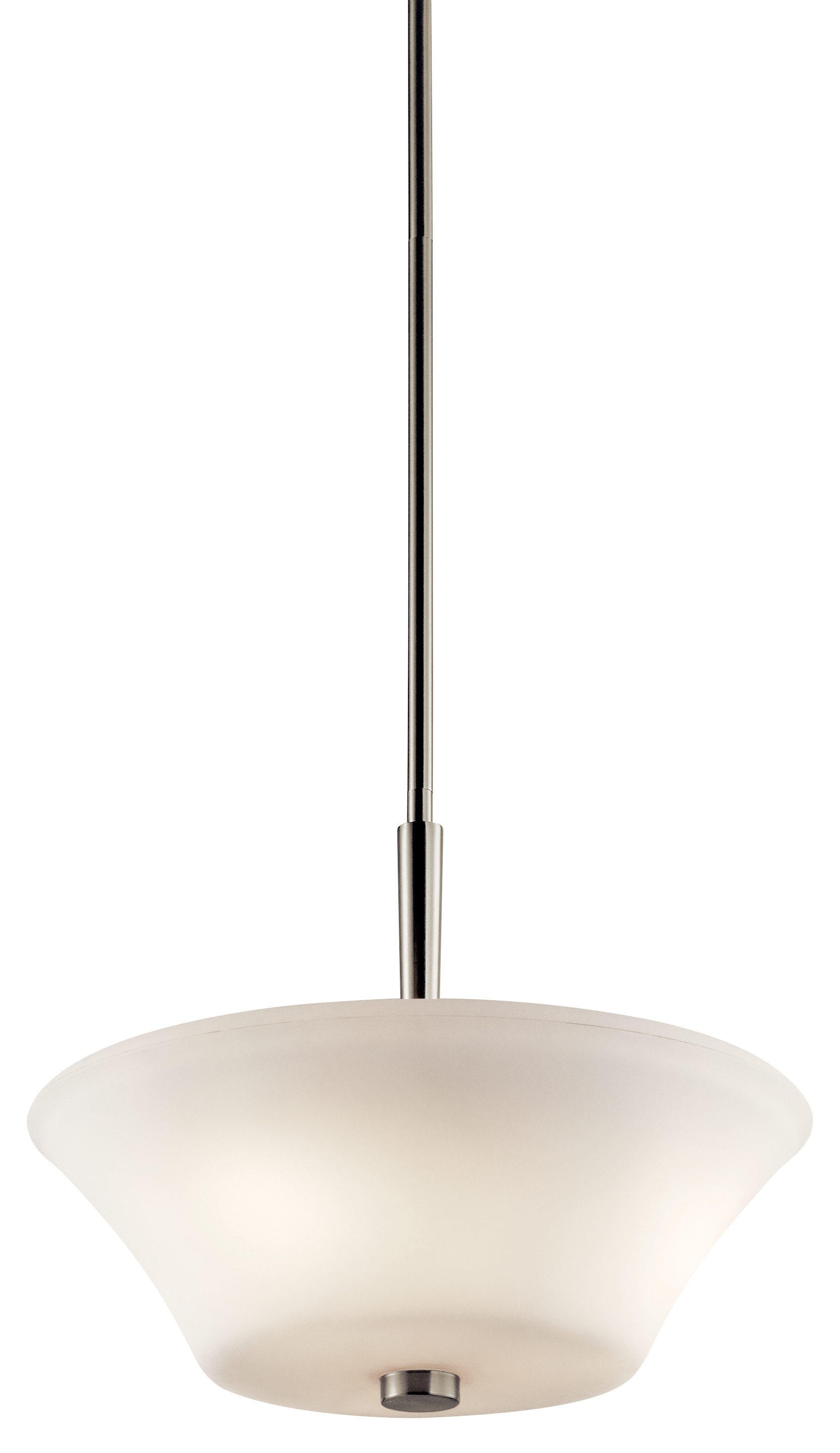 Kichler Aubrey LED Flush Light with Satin Etched Painted White Inside Shade - Brushed Nickel (43669NIL16)