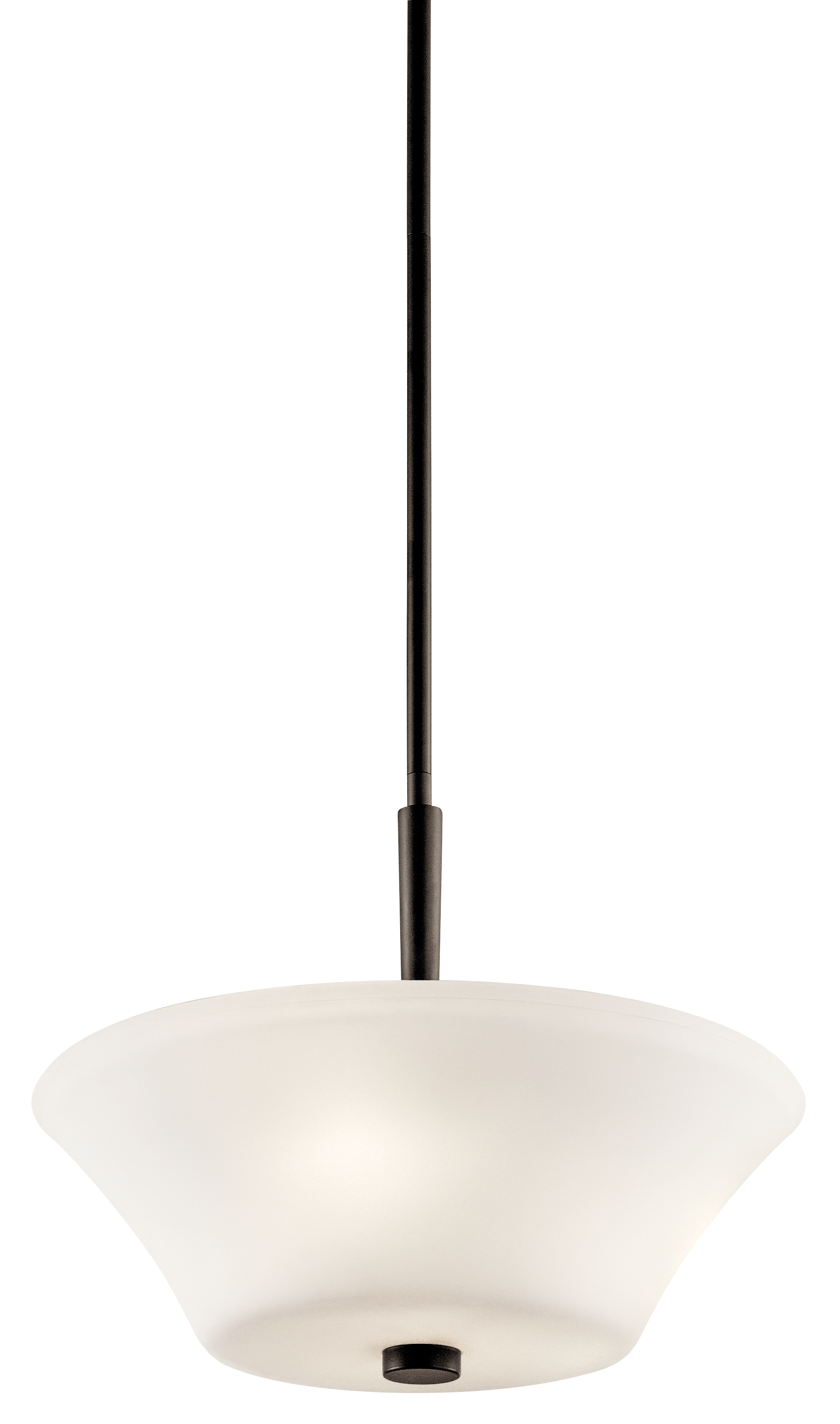 Kichler Aubrey LED Flush Light with Satin Etched Painted White Inside Shade - Olde Bronze (43669OZL16)