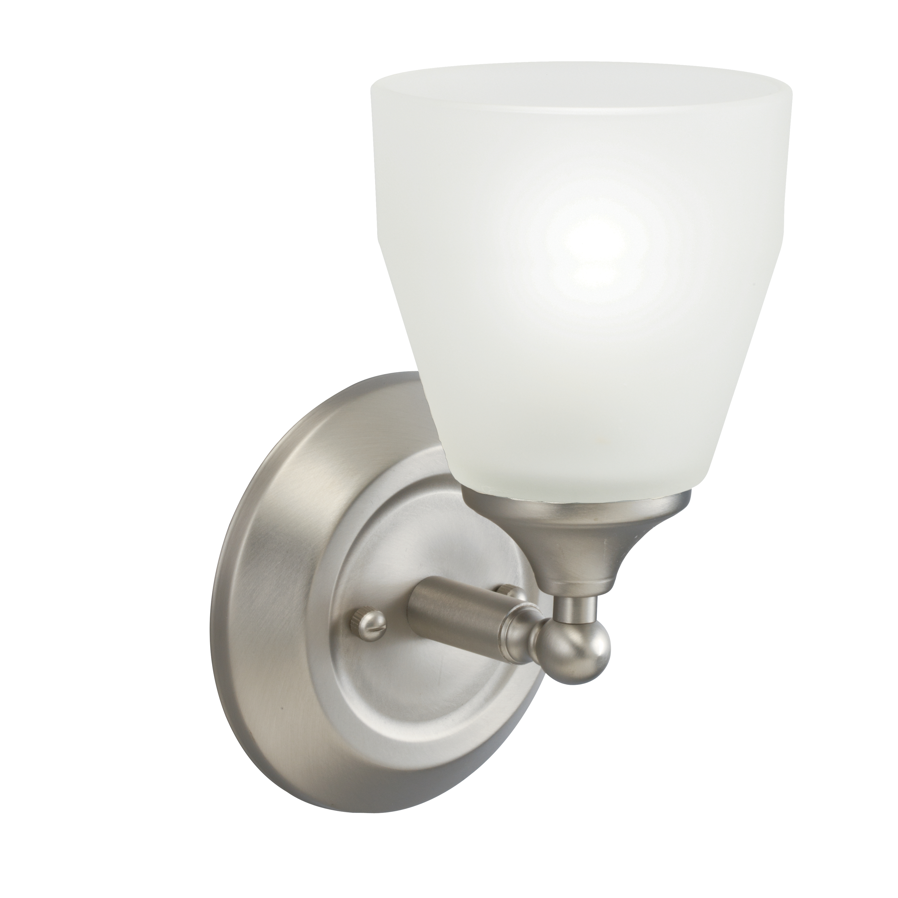 Kichler Ansonia Outdoor Damp Wall Light with Satin Etched Shade - Brushed Nickel (5446NI)