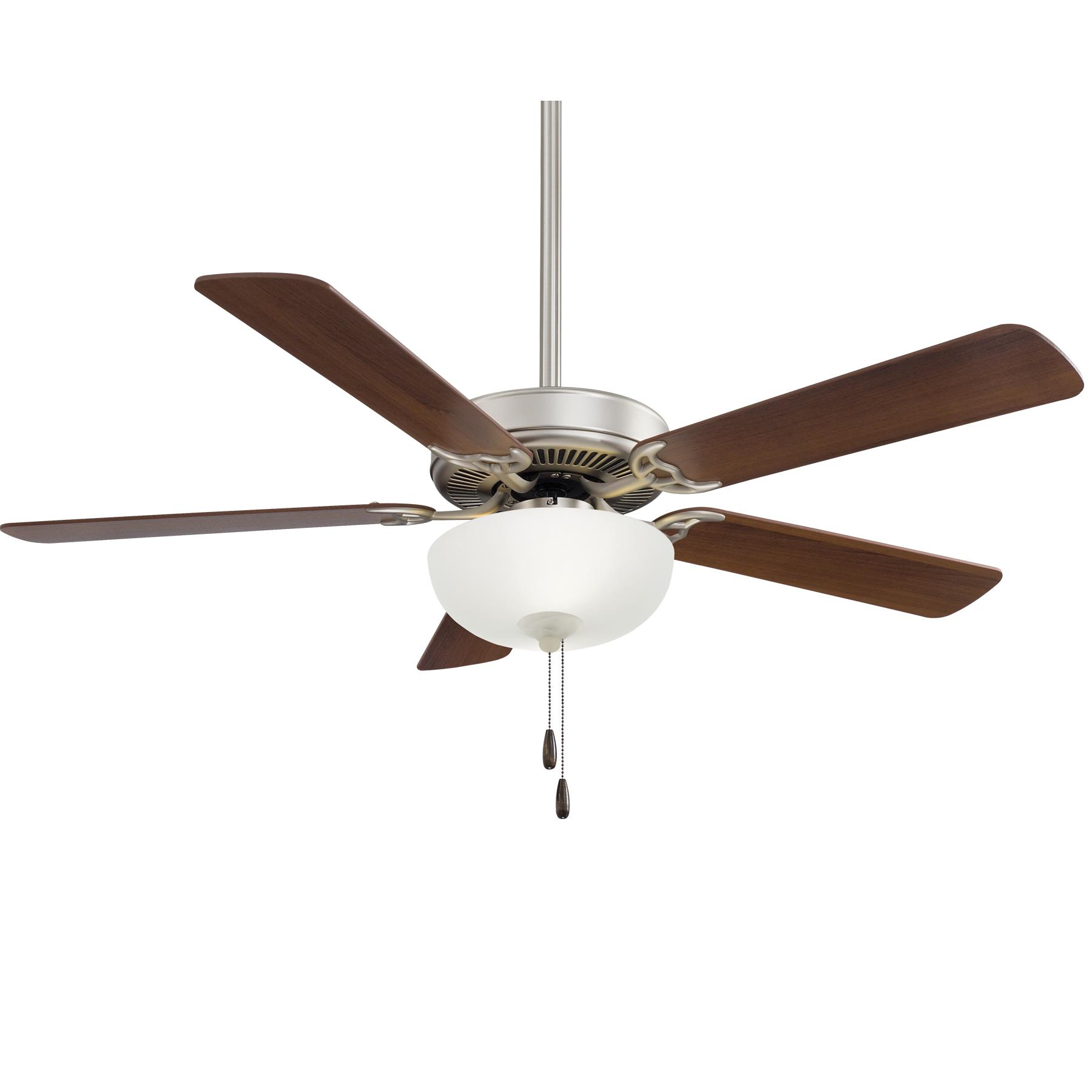Minka Aire Contractor Steel Ceiling Fan LED Walnut