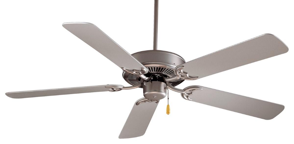 Minka Aire Contractor 42 Steel Ceiling Fan Silver