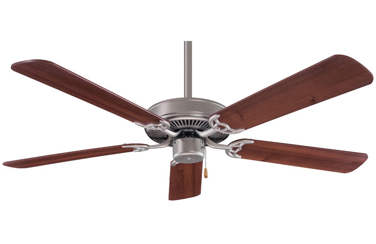 Minka Aire Contractor 52 Steel Walnut Ceiling Fan