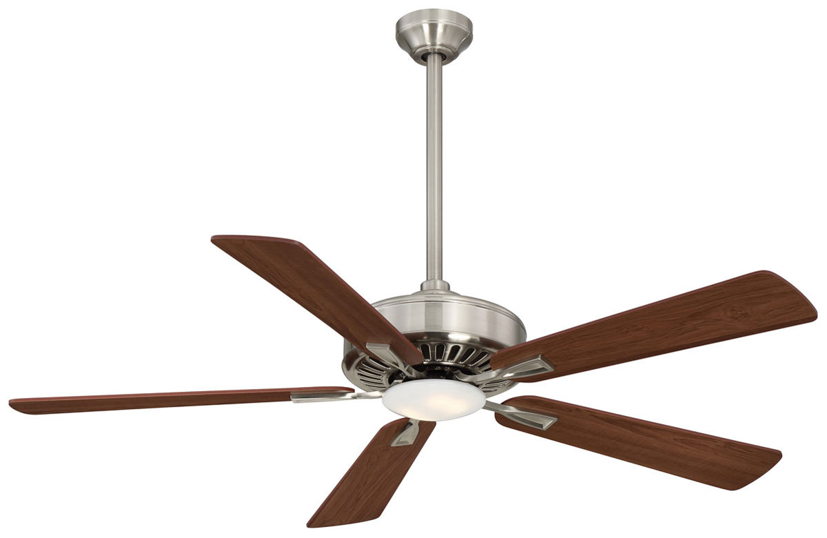 Minka Aire Contractor Nickel Ceiling Fan LED Maple