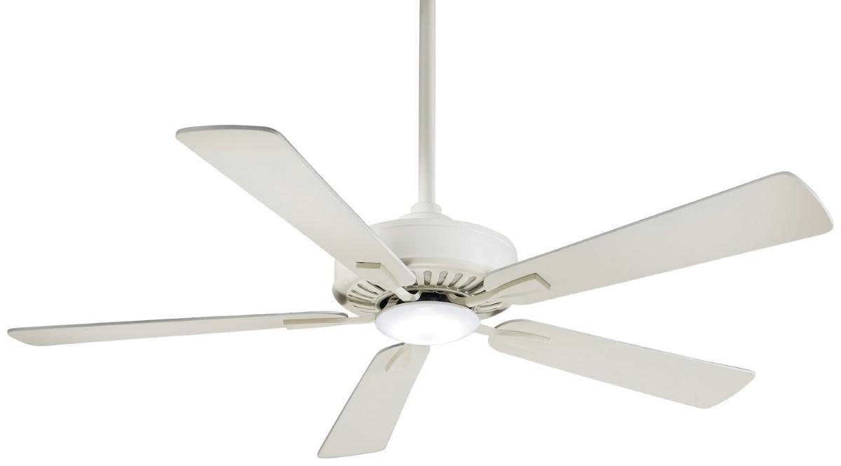 Minka Aire Contractor Bone White Ceiling Fan LED