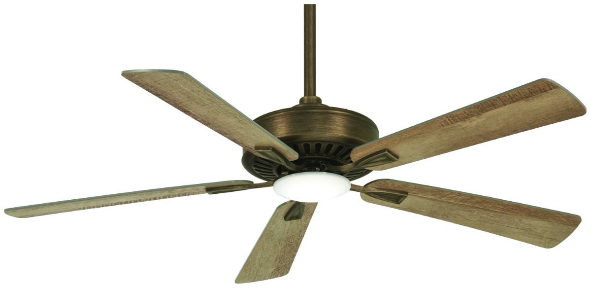 Minka Aire Contractor Plus Bronze Fan LED Barnwood