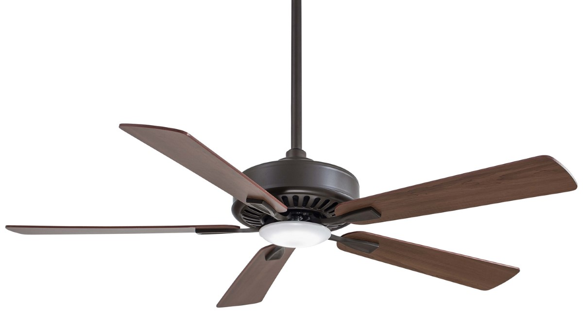 Minka Aire Contractor Bronze Ceiling Fan LED Maple