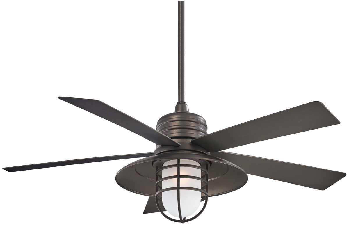 Minka Aire Rainman 54 Quot Outdoor Wet Smoked Iron Ceiling Fan