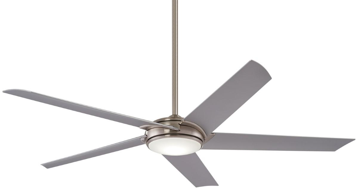 Minka Aire Raptor Brushed Nickel Ceiling Fan