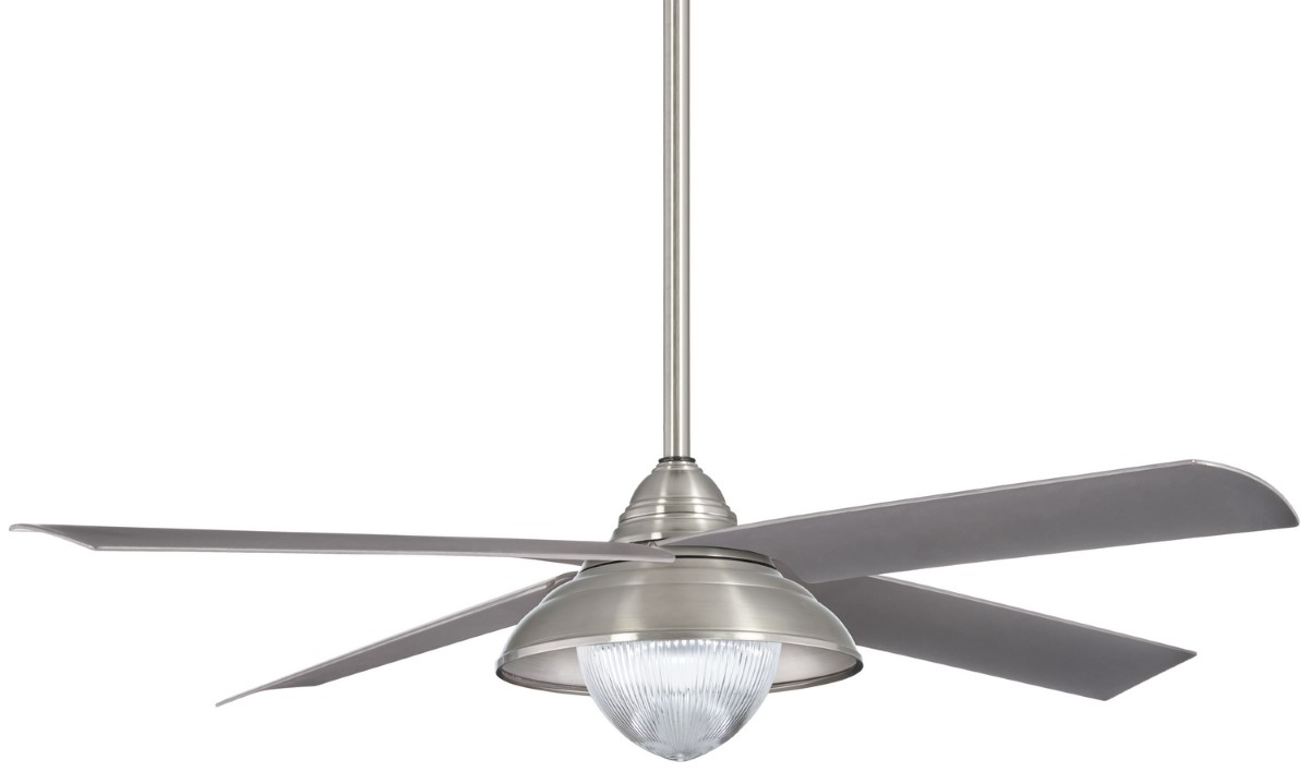 Minka Aire Shade Brushed Nickel Ceiling Fan