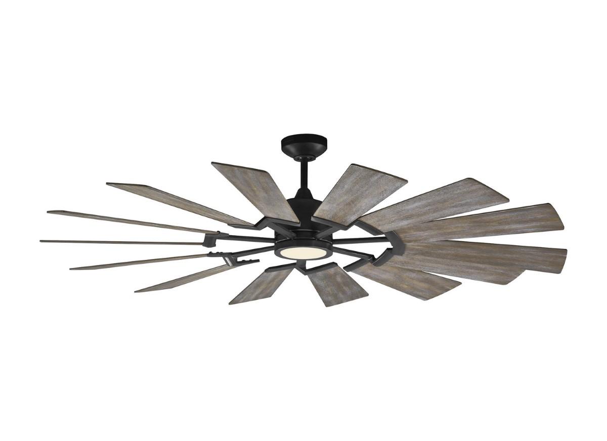 "Monte Carlo Prairie 62"" Pewter Ceiling Fan (14PRR62AGPD)"