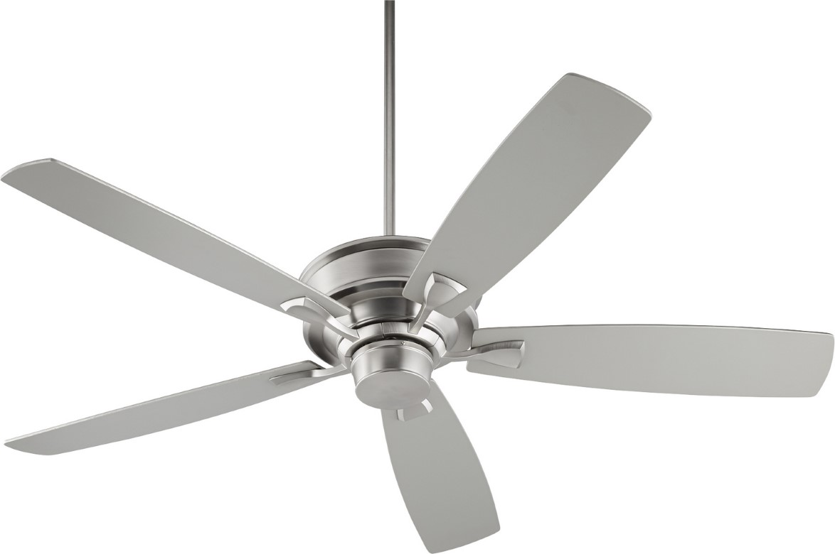"Quorum Alton 60"" Satin Nickel Ceiling Fan (42605-65)"