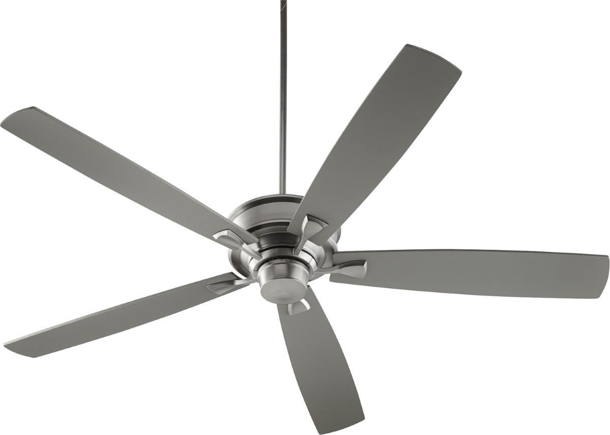 "Quorum Alton 70"" Satin Nickel Ceiling Fan (42705-65)"