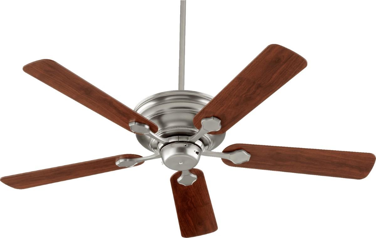 "Quorum Barclay 52"" Satin Nickel Ceiling Fan (76525-65)"