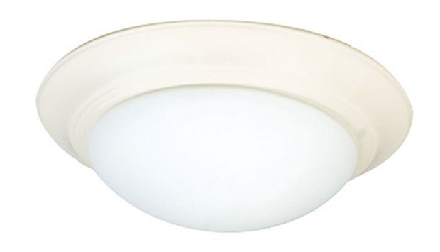 Craftmade LED Bowl Light Kit with Cased White Glass - Antique White (LKE53-AW-LED)